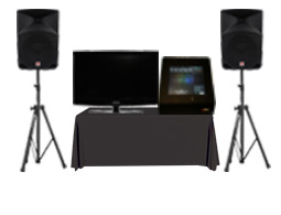 Rent a touch screen karaoke unit