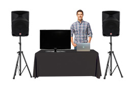 Rent a karaoke machine with a technician to operate it for you