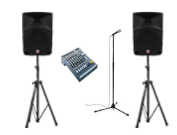 Rent a small pa sound system for your party