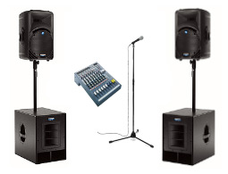 Rent a medium PA system for your next function or event