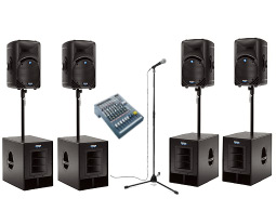 Rent a medium to large PA system