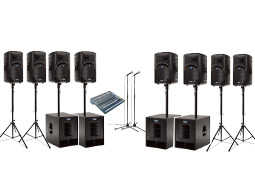 Rent a medium to large PA sound system