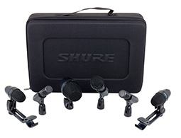 Rent a shure drum microphone kit with 6 pieces