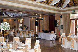 Sample of a Wedding DJ setup photos
